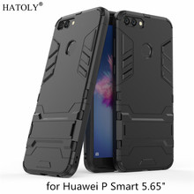 P Smart 2019 Armor Case Huawei P Smart Case Enjoy 7s Robot Silicone Rubber Hard Back Phone Cover For Huawei P Smart Plus HATOLY