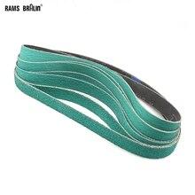 """8 ชิ้น 1 """"* 30"""" Z/A 577F Sanding Belt Sander Bands 25*762 มม.40 #60 #80 #120 # สำหรับ Hard โลหะ"""