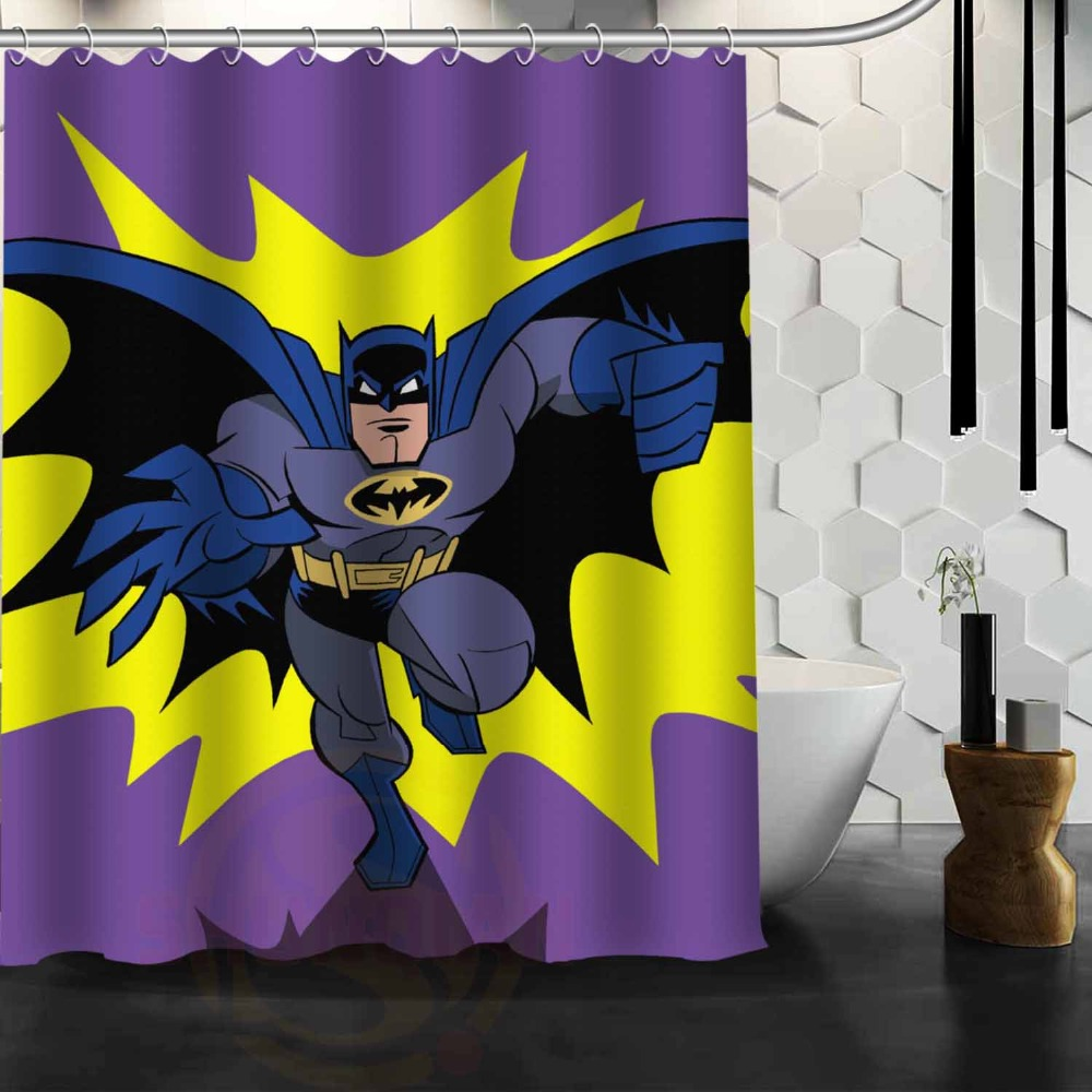 Dark knight shower curtain - Batman Named Dark Knight Cartoon Character Image Design Curtains Eco Friendly Waterproof And Anti