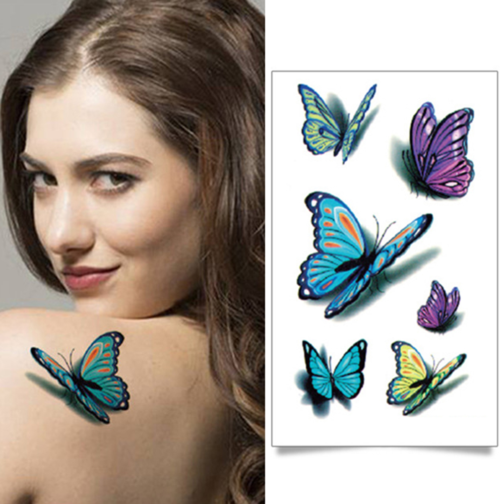 10.5x6cm Butterfly Design Fashion Temporary Tattoo Stickers Temporary Body Art Waterproof Tattoo Pattern