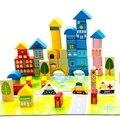 Новый 62 шт. Безопасности цвет мультфильм изображения город трафика сцена деревянные строительные блоки детский день рождения и Рождественский подарок