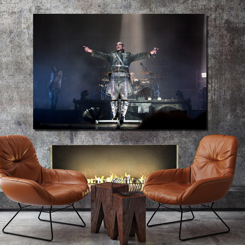 Rammstein Hurricane Festival Canvas Painting Print Living Room Home Decoration Modern Wall Art Oil Painting Posters Pictures HD in Painting Calligraphy from Home Garden