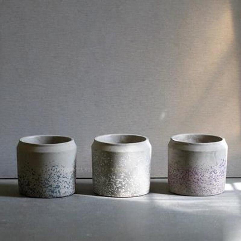 Круглый бетона кашпо плесень суккулентов pots силиконовые формы домашнего офиса украшение полигон цемента ваза формы