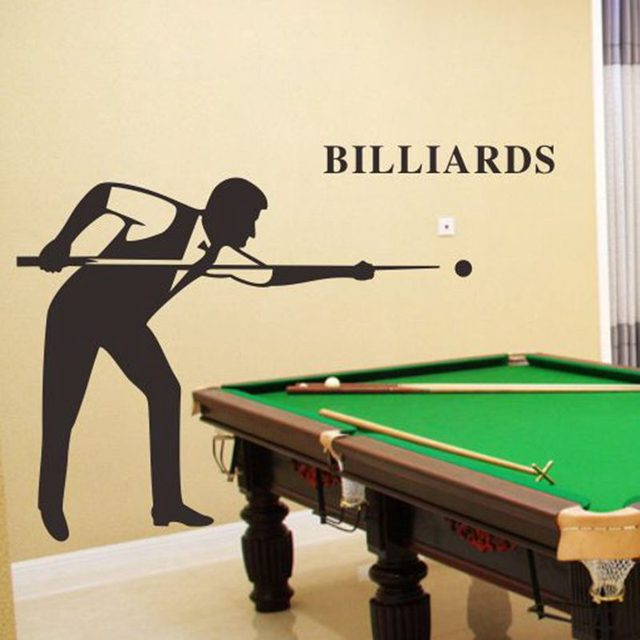 Snooker Billiard Decal Hot Man Body Car Wall Stickers Home ...