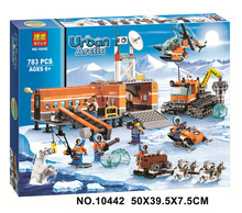 Free Shipping Bela 10442 783Pcs City Arctic Base Camp Model Buildinlg Kits Minifigure Blocks Bricks Toys Compatibe With
