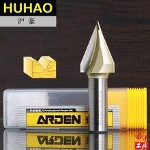 "Woodworking Tool Tungsten Carbide ""V "" Groove Bit Arden Router Bit   1/4*1/2   1/4"" Shank   Arden A0310014"