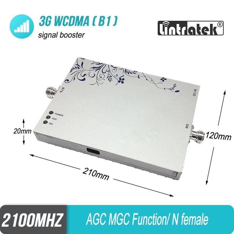 Livraison gratuite Lintratek 3G répéteur 1000sqm WCDMA 2100 MHz amplificateur de Signal celulaire UMTS LTE 2100 répétidor ALC MGC amplificateur #6 - 2