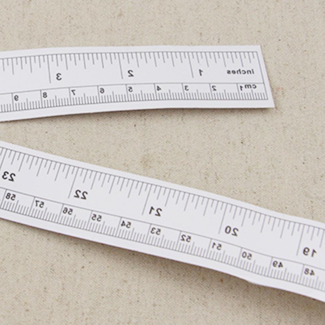 Sticky Rulers Self Adhesive Steel Tape Measure Meters Centimeter Wood Work Tool