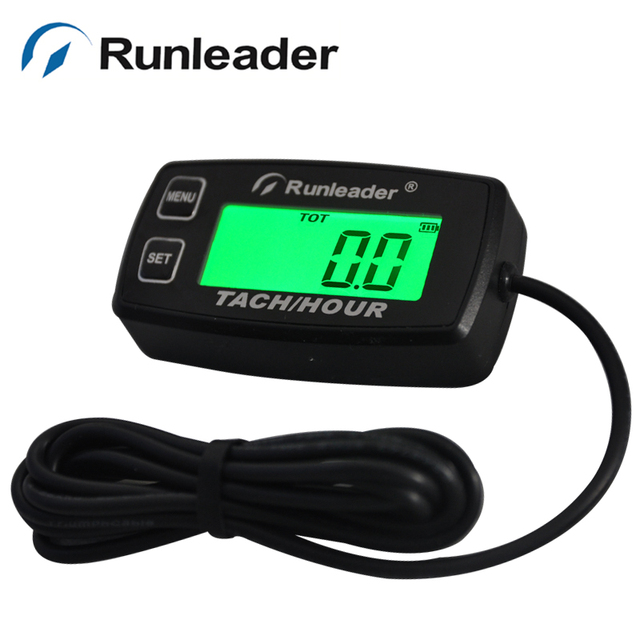 Rl Hm035r Backlight Hour Meter Tachometer Rpm For Atv Tractor Generator Lawn Mower Pit