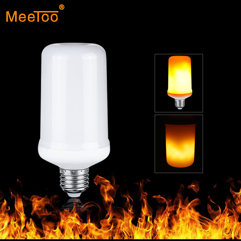 Flame Led Lamp E27 Led Lamp E27 Flame Effect Fire Light Bulb 9w 3 Modes Gravity Sensor Creative Lights Flickering Emulation Decorative Flame Lamp
