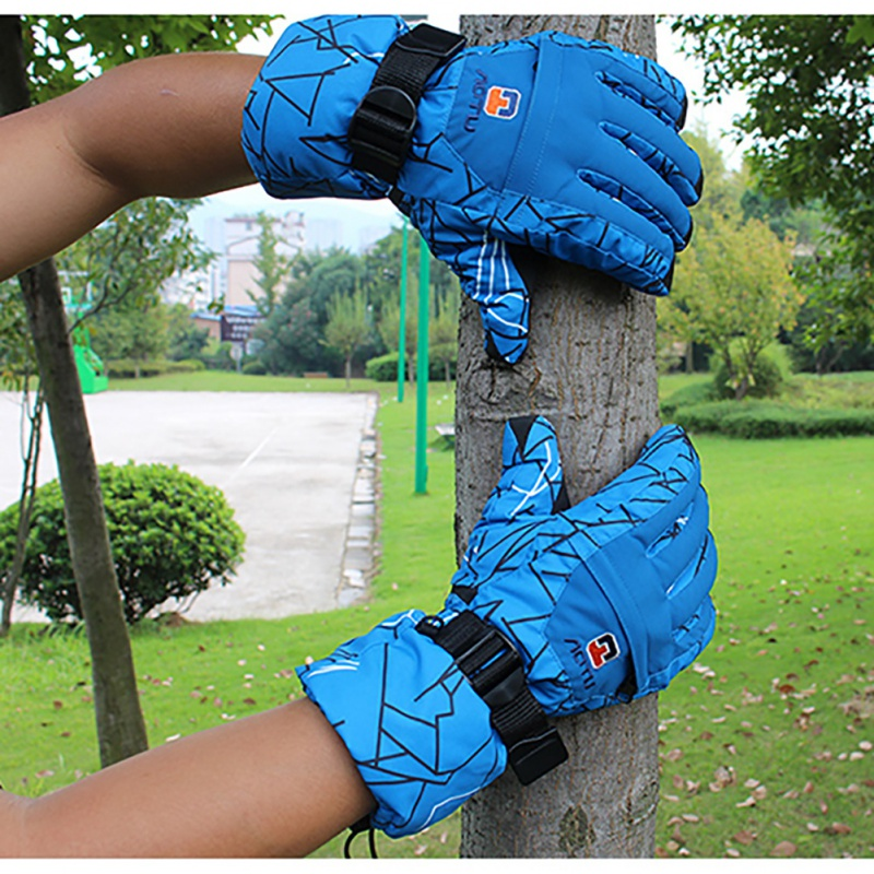 Winter Anti-Cold Thickened Snowboard Warm Snow Gloves Men Waterproof Skiing Gloves Skiing Riding Cycling Sportswear Gloves