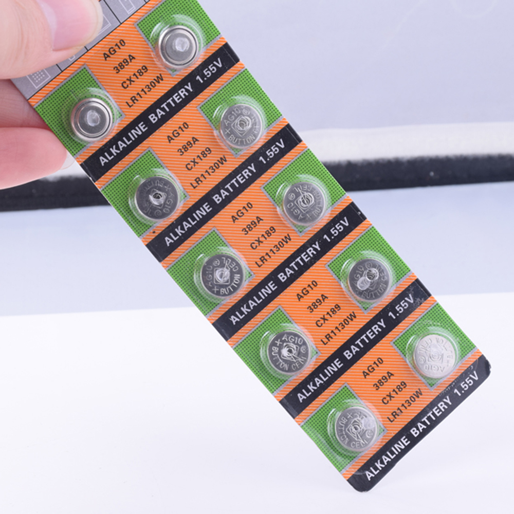 YCDC 20pcs AG10 LR1130 1130 SR1130 389A LR54 L1131 389A 1 55V Button Battery MP3 Players Toys watch batteries Alkaline batteria in Button Cell Batteries from Consumer Electronics