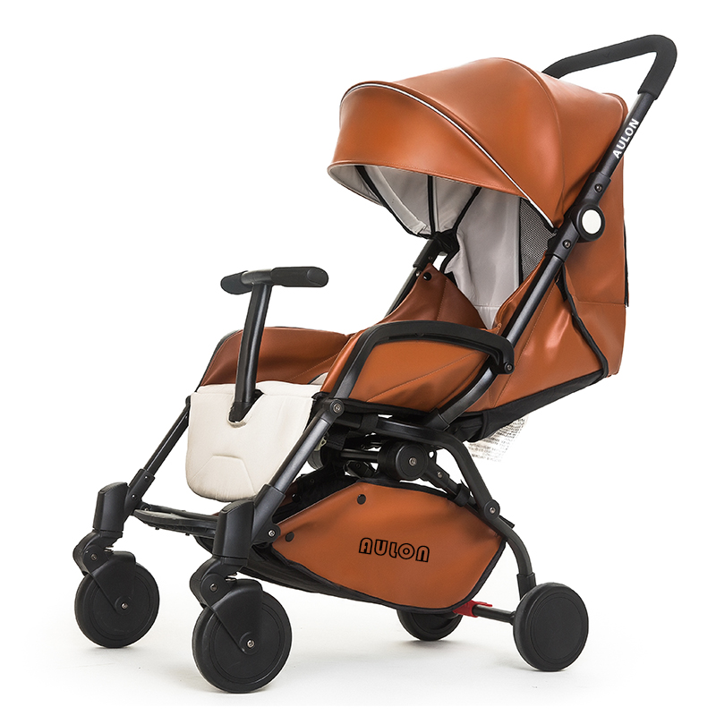 Brand baby AULON leather baby strollers 3 colors high quality light big stroller 175 degree baby carriage baby car все цены