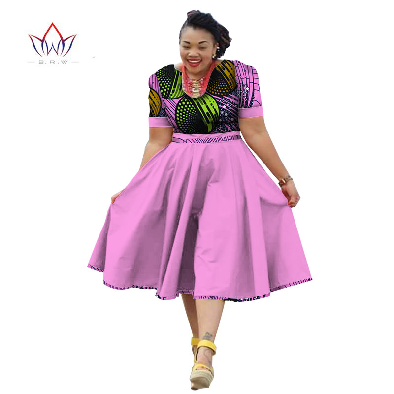1ec682e7799 Highisa Women s Mini Plus Size African Print Pleated Waist Fashion Party  Dress Source · Plus size clothing 2019 summer dress african print dress  dashiki for