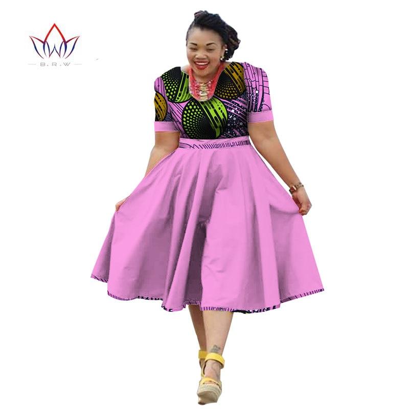 84e9fb552e82 Plus size clothing 2019 summer dress african print dress dashiki for women bazin  riche vestidos femme dress plus size brw wy733