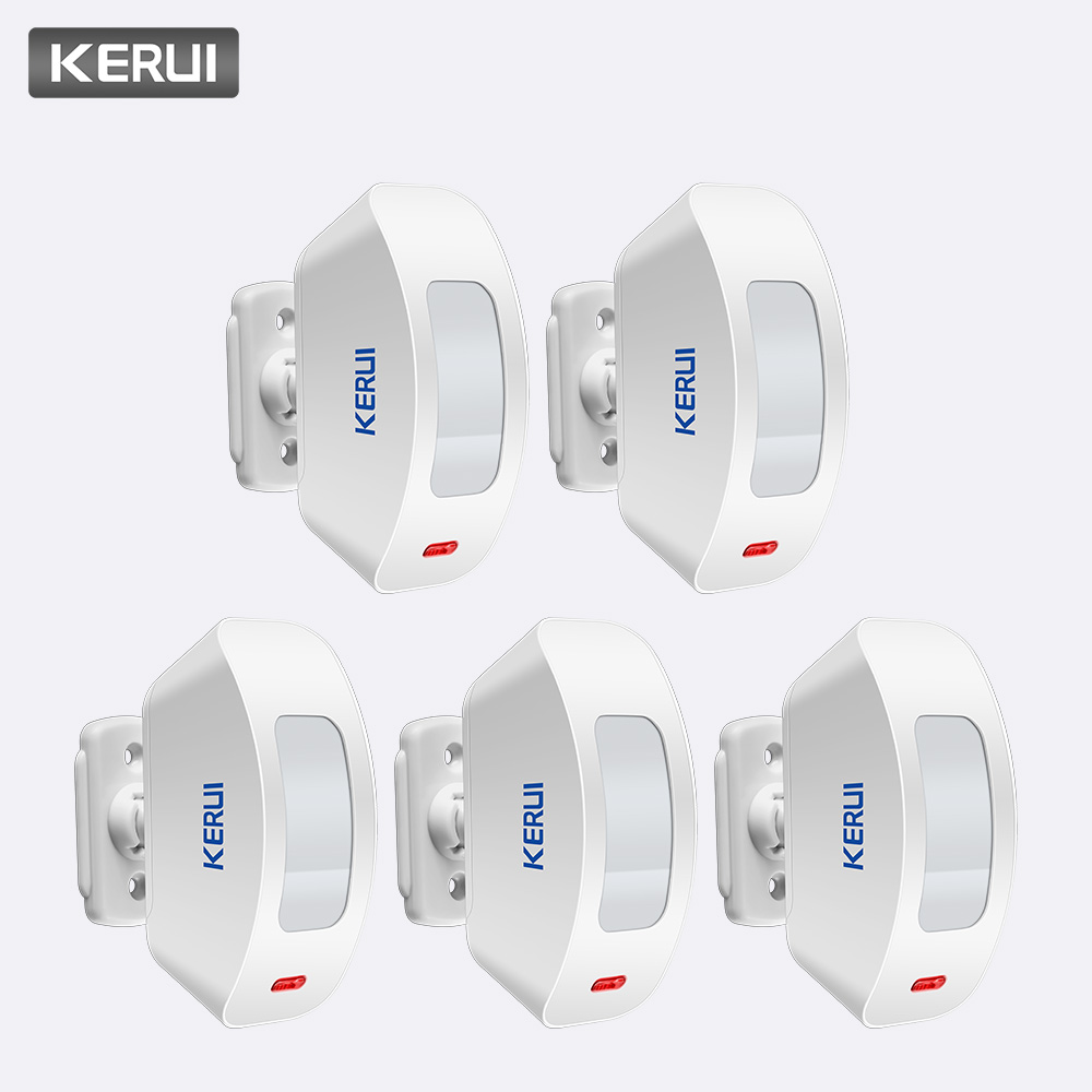 KERUI 5Pcs 433MHz Wireless Curtain PIR Motion Sensor Internal Antenna USB PIR Motion Low Power Circuit