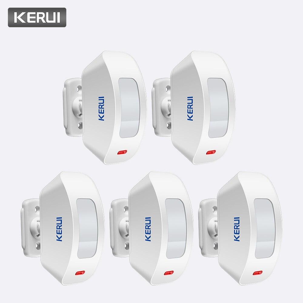 KERUI 5 pièces 433 MHz Sans Fil détecteur de Mouvement PIR Rideau Antenne Interne USB PIR De Puissance Faible De Circuits pour Système D'alarme