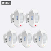 KERUI 5Pcs 433MHz Wireless Curtain PIR Motion Sensor Internal Antenna USB PIR Motion Low Power Circuit Detector for Alarm System