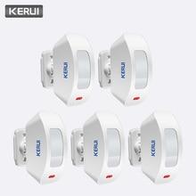 KERUI 5Pcs 433MHz Drahtlose Vorhang PIR Motion Sensor Interne Antenne USB PIR Motion Niedrigen Stromkreis Detektor für alarm System