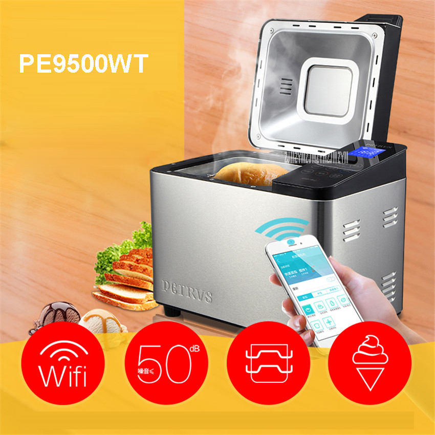 PE9500WT 220V/50Hz bread machine home automatic and face multi-functional intelligent Caesar fruit yogurt 1000gwifi Bread Makers new hot steamed bread machine home full automatic intelligent and noodles cake rice bag bread makers amb 512 bread machine 220v