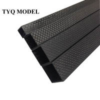 TianYuQi 4pcs 3K full carbon fiber square tube high strength length 500mm