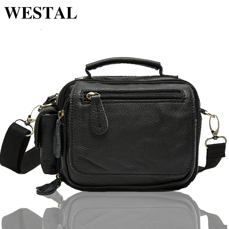 WESTAL Messenger Bag Leather Men Bag Genuine Leather Shoulder Crossbody Bags for Man Small Chest Pack Multifunctional Waist Pack bullcaptain messenger bag leather men bag genuine leather waist pack small shoulder crossbody bags fashion ipad belt chest bags