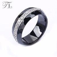 TL Mode Keramik Ring Für Frauen Hohe Qualität Annulus Zirkon Handmade Cut Ring Luxus Black & White Hochzeitsringe Partei schmuck