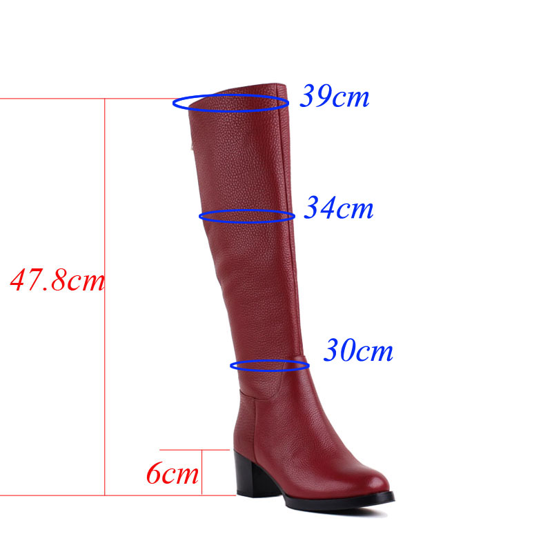 Bacia/новый бренд красные модные Сапоги и ботинки для девочек Пояса из натуральной кожи Обувь с шерстью Мех Высокие каблуки женские зимние бот...