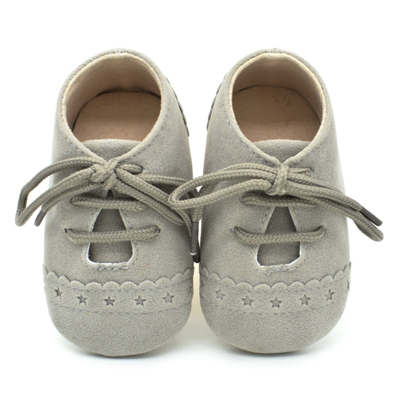 Infant Baby Girls Boys Spring Lace Up Soft Leather Shoes Toddler Sneaker Non-slip Shoes Casual Prewalker Baby Shoes 25