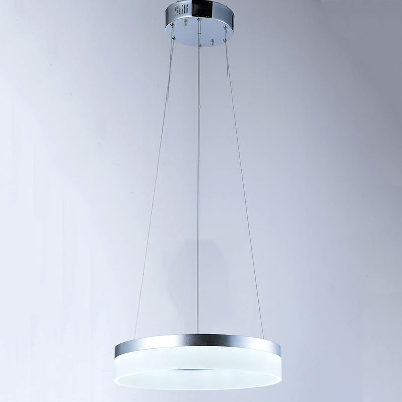 Modern round ring circular Acrylic LED white chandelier For restaurant foyer dinning room hanging lamp indoor decor lamp VALLKIN