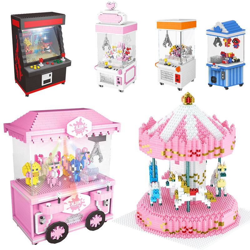 Hot Popular Toy Building Blocks Friends Birthday Gift Lepined Children's Day Cartoon With Led Light Building Toy Street