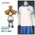 Free Shipping Inazuma Eleven Anime Costume Hakuren Junior High School Jersey 1st Halloween Cosplay Kid And Adult Costume