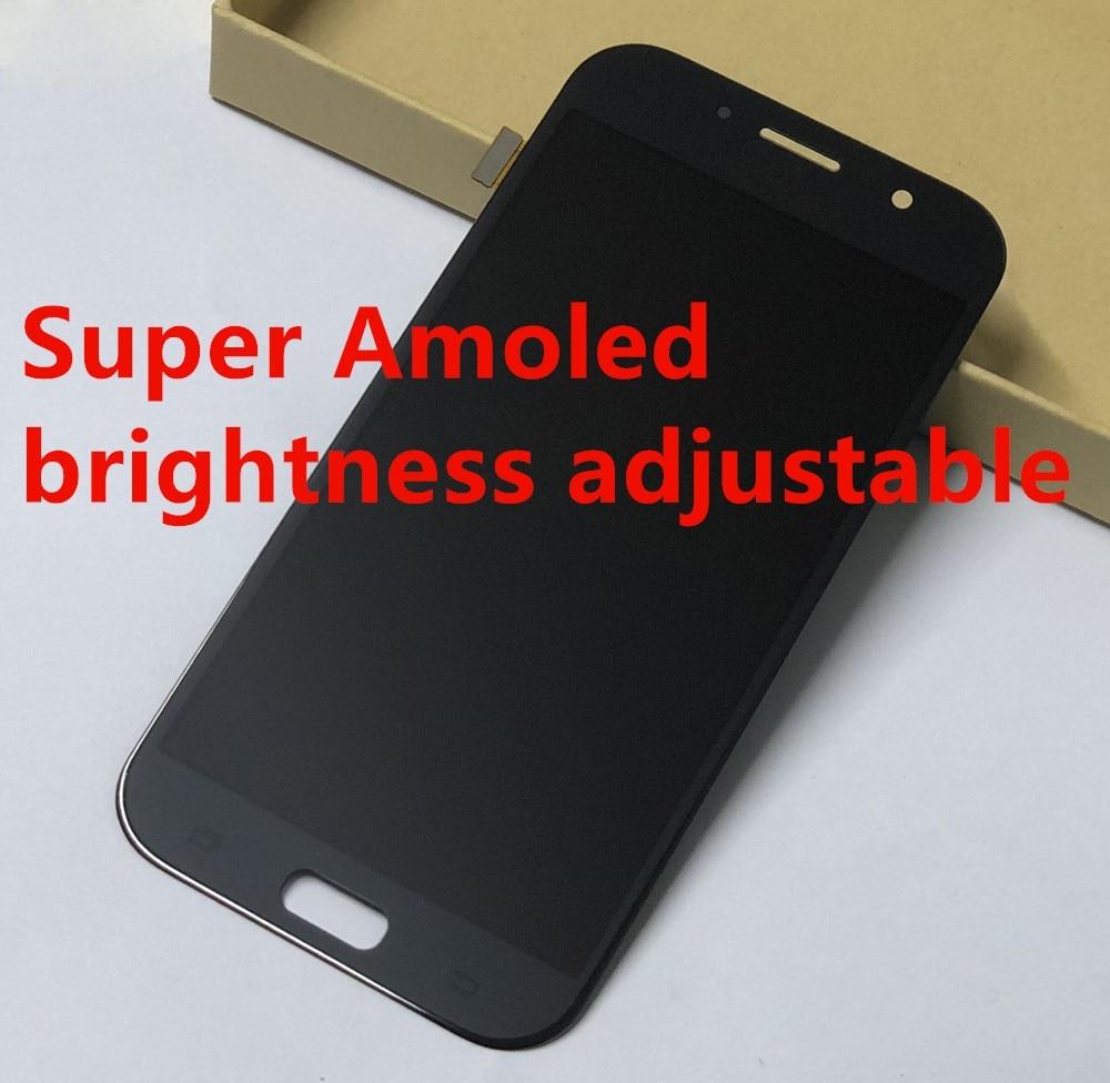 Super Amoled Pour Samsung A7 2017 A720 A720F A720M A720Y LCD Full Affichage Panneau En Verre + Écran Tactile Digitizer Capteur l'assemblée
