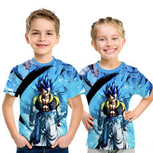 Dragon Ball Z Ultra Instinct Kids Tshirt God Son Goku Super Saiyan 3D Print T-shirt Men Summer O-Neck Funny Parent-child T shirt(China)