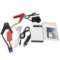 12000mAh 12V Large Capacity Car Jump Starter White Power Bank Mini Multifunctional Starter Portable LED Lighting