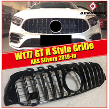 W177 grille GTS With Camera Sport Front Bumper Mesh For MercedesMB A-class A180  A200 A250 grills ABS silver Without Sign 2019-