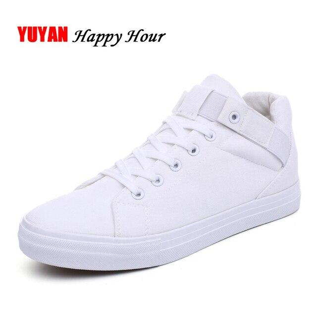 963f503d4 جديد أزياء الرجال قماش أحذية رياضية الارتفاع زيادة أحذية رجالية عارضة  الذكور التجارية الأحذية العالية أعلى