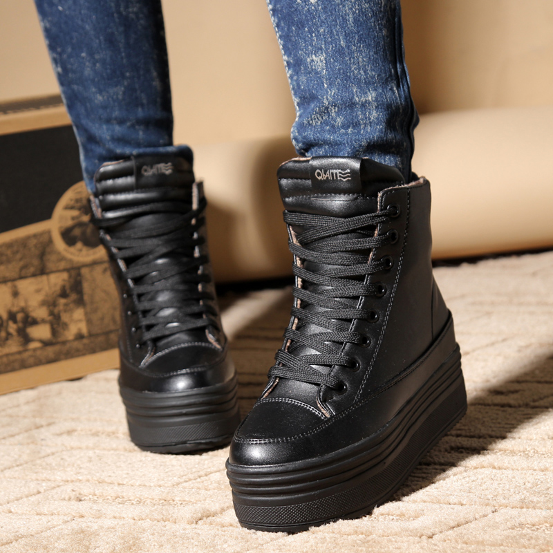 Aliexpress.com : Buy Fashion autumn and winter leather shoes rain ...