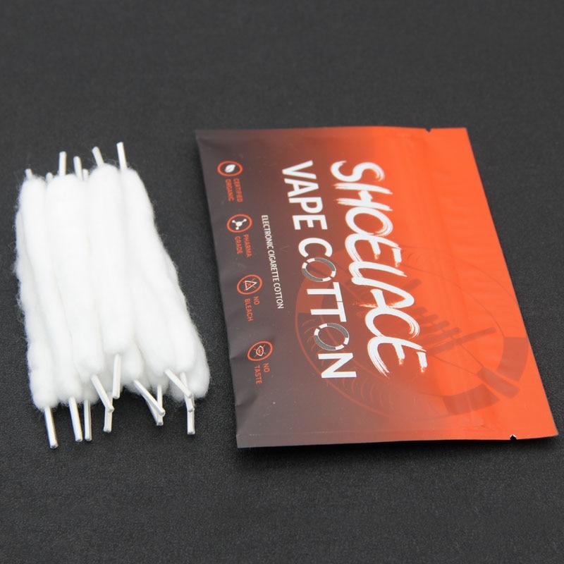 High Quality Vape Slacker Cotton Hardcover E-cigarette Cotton For Electronic Cigarette Atomizer 12pcs/pack Vape Accessories