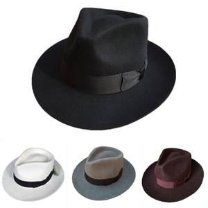 fb5c5f824b6 Classic Men s Wool Felt Fedora Hat Gangster Gentleman