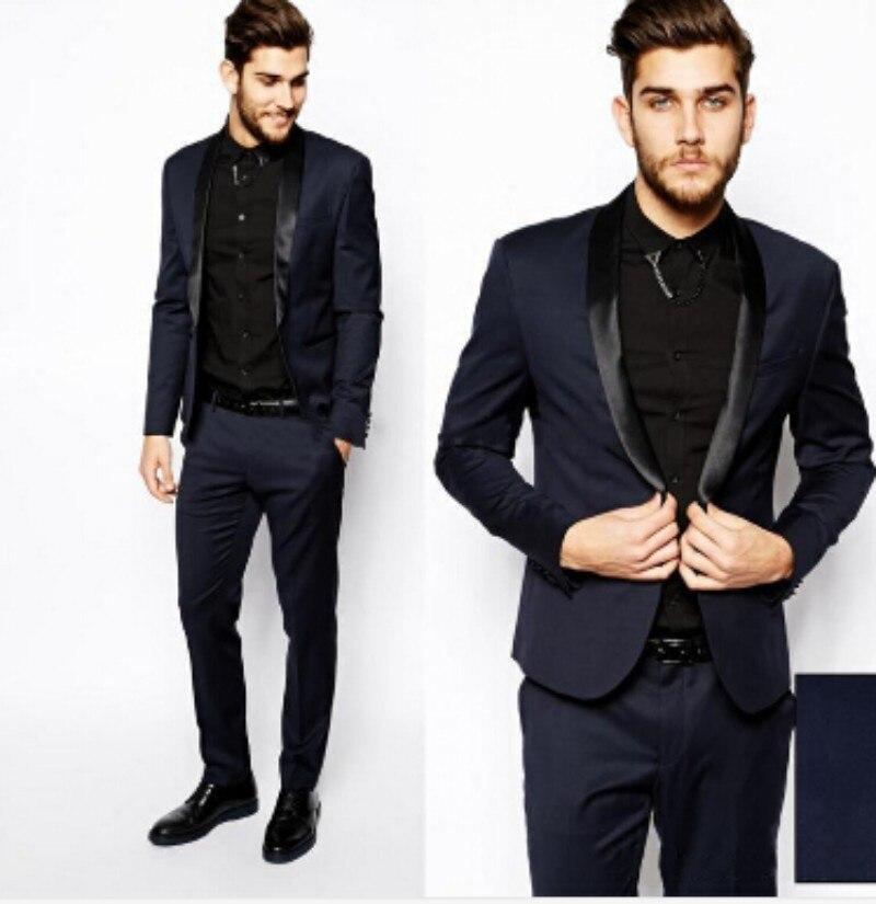 Custom Made Dark Blue Men Suit, Tailor Made Suit, Bespoke Men ...