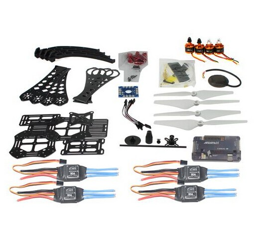 F14893-K DIY RC Drone Quadrocopter X4M380L Frame Kit APM 2.8 Flight Control GPS drone upgraded apm2 6 mini apm pro flight controller neo 7n 7n gps power module