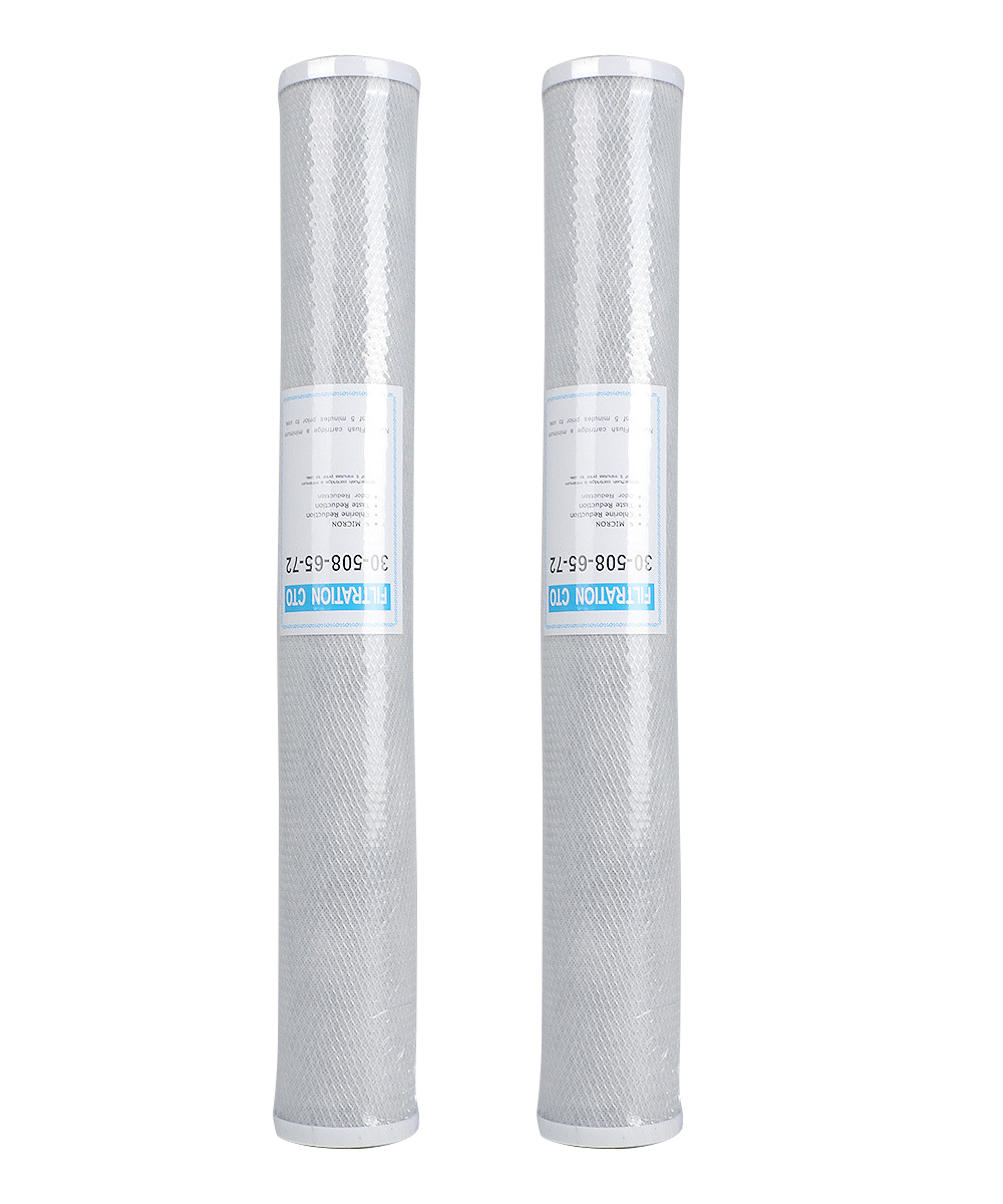 2pcs 20 Universal Water Filter Activated Carbon Cartridge Filter 20 Inch CTO Block Carbon Filter Water purifier kx matrikx 1 01 425 125 20 carbon block filter 20 x 4 25