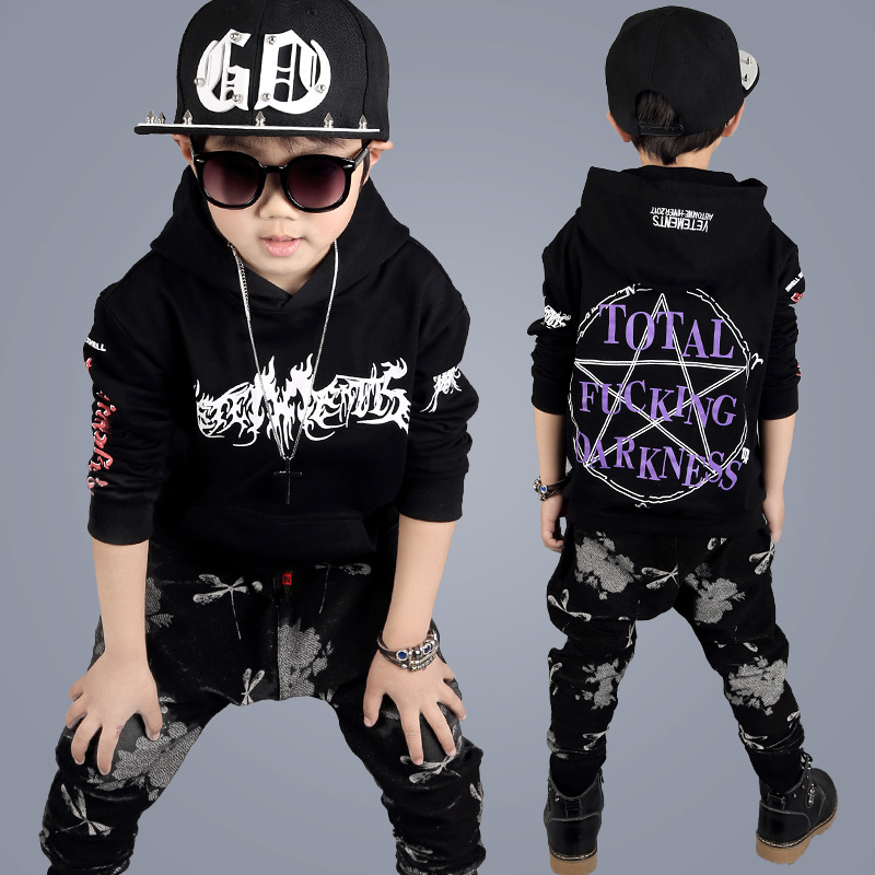 Children Clothing Set Streets Costumes Boys Hoodies Baggy Set Kids Sport Suits Hip Hop Dance Clothes Casual Kids Tracksuit YL578 kids hip hop clothing autumn new boys kids suit children tracksuit boys long shirt pants sweatshirt casual clothes 2 color