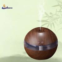 New Wood Grain Car Humidifier 300ml Essential Oil Diffuser USB Office Desk Air Humidifier Aroma Diffuser