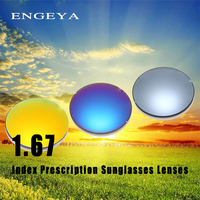 ENGEYA 1.67 Index Prescription Sunglasses Lenses Fashion Optical Men Women Myopia Presbyopia Polarized Sunglasses Lenses Anti UV