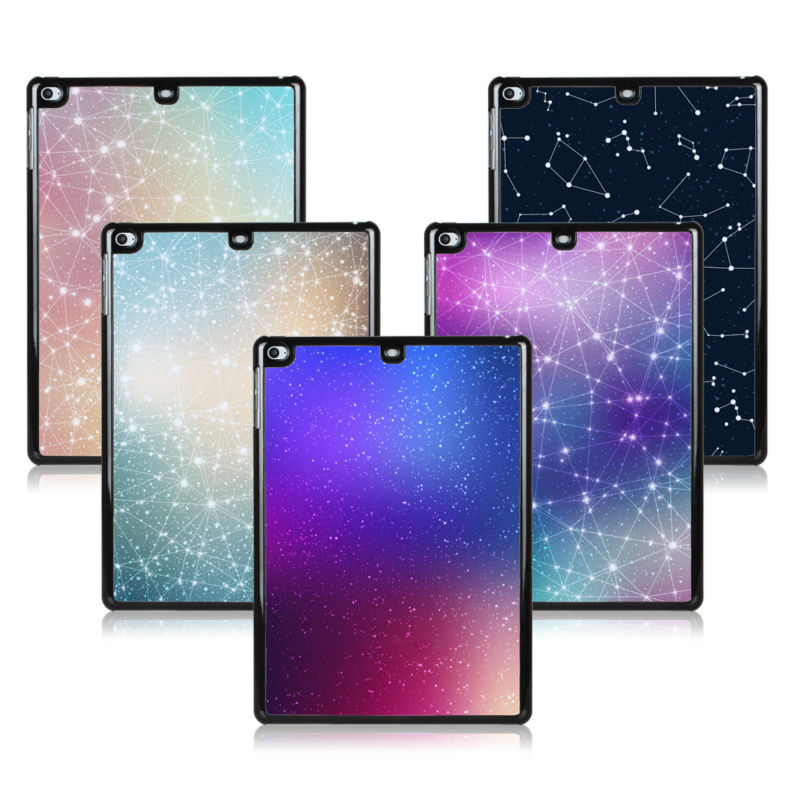 BTD Magic Space Hard PC Black Case for ipad 5 Deep Sky Night with Stars and Milky Way Cover for ipad air