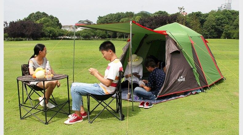 Vente chaude Double couche 2 Vestibule, 2 pièces, 5 personnes tente, tente de cabine de CZX-025, tente de taille familiale, 5 personnes 2 pièces tente chapiteau