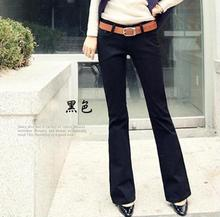 цены Hot 2014 Spring s black and white and cultivate one's morality micro loudspeaker female jeans small horn Plus size