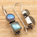 LABRADORITE Gems New Cute Design Cool Fashion Earrings  Silver Plated Jewelry